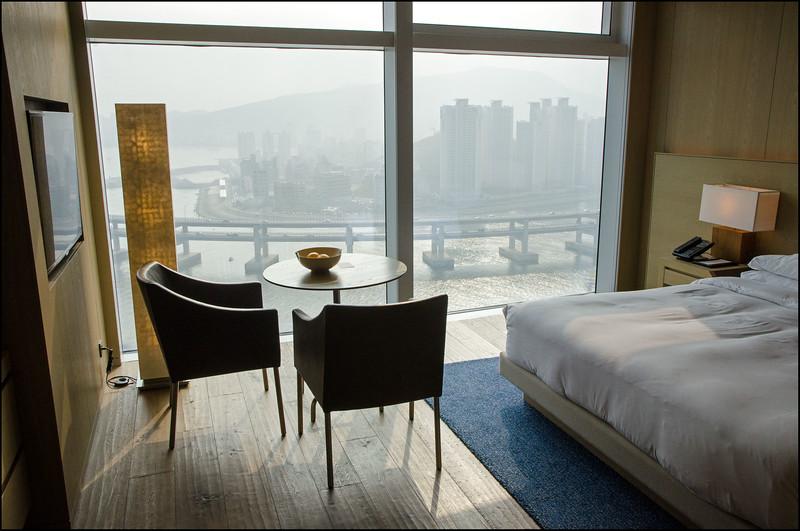 Our hotel room at the Park Hyatt - Park Hyatt Busan, South Korea