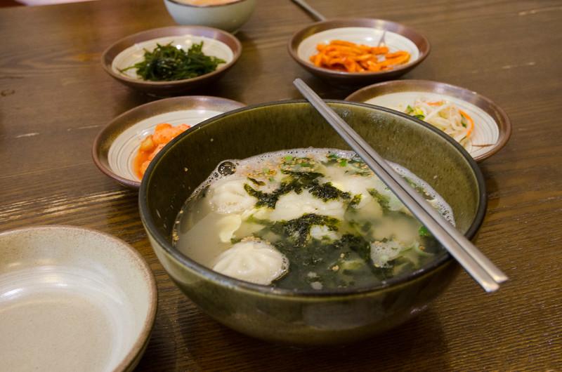 Dumpling soup
