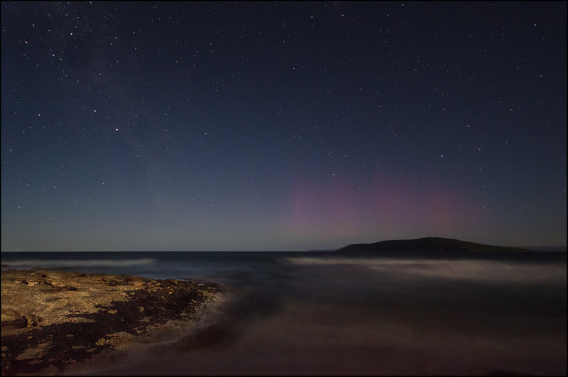 Where to see the Aurora Australis in Tasmania - Betsey Island
