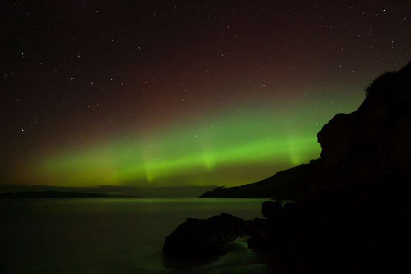 Where to see the Aurora Australis in Tasmania - Clifton Beach