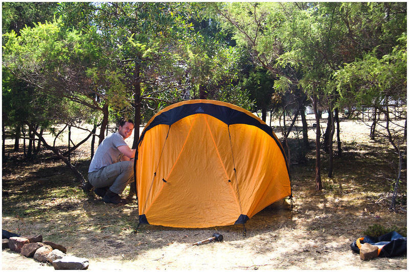 Setting up Camp - Maria Island, Tasmania
