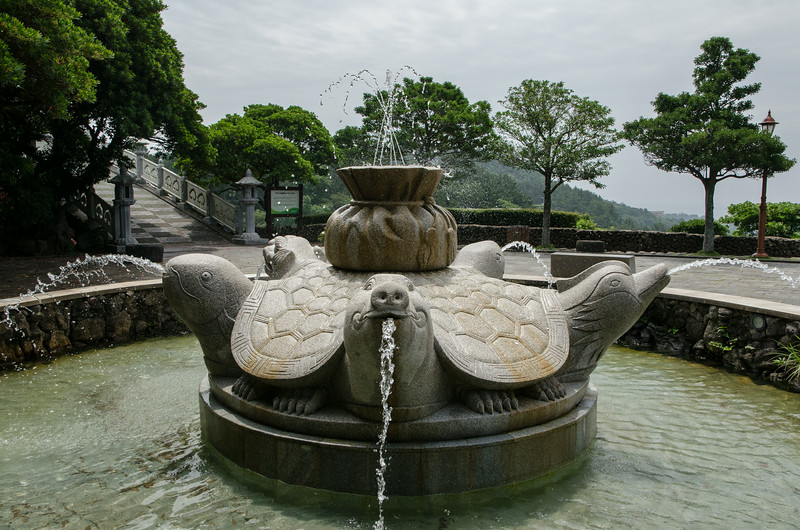 Fountain of 5 Blessings - Honor (Dragon), Sons (Carp), Longevity (Tortoise), Wealth (Boar) and Love (Mandarin Duck)