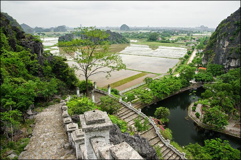 Looking back towards Ninh Binh
