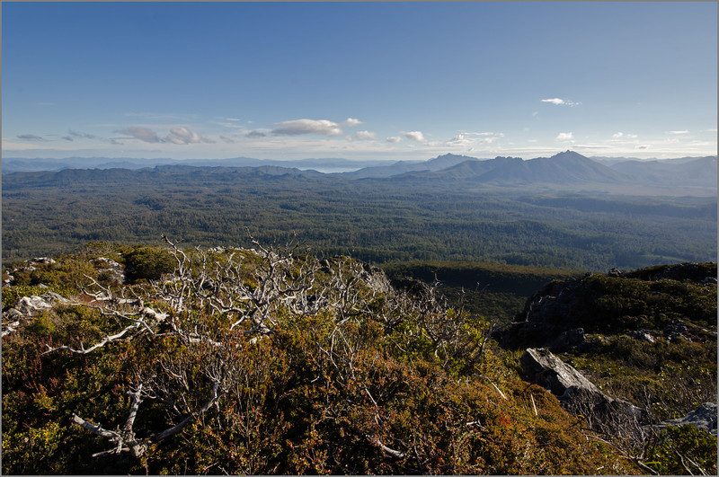 West towards Lake Pedder
