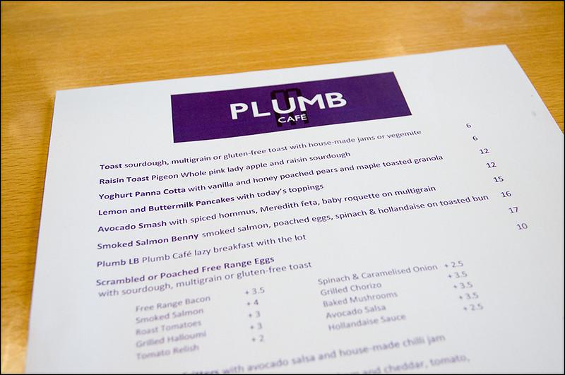 Plumb Cafe Menu