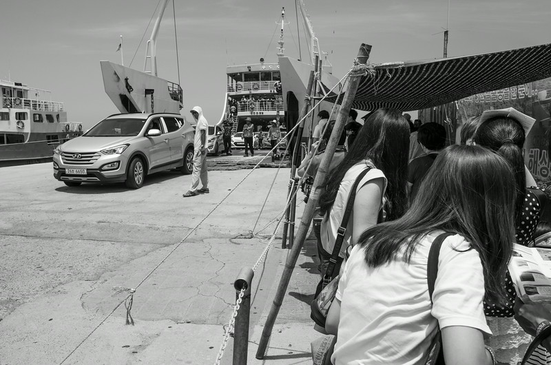 Waiting to board the ferry to Udo Island