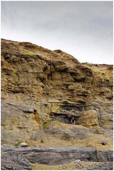 Hiding in the Fossil Cliffs - Maria Island, Tasmania