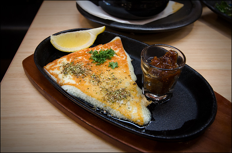 Urban Greek Hobart - Saganaki Cheese with Fig Sauce and Rakomelo