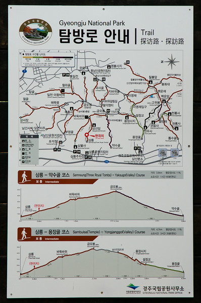 Mt Namsan hiking map