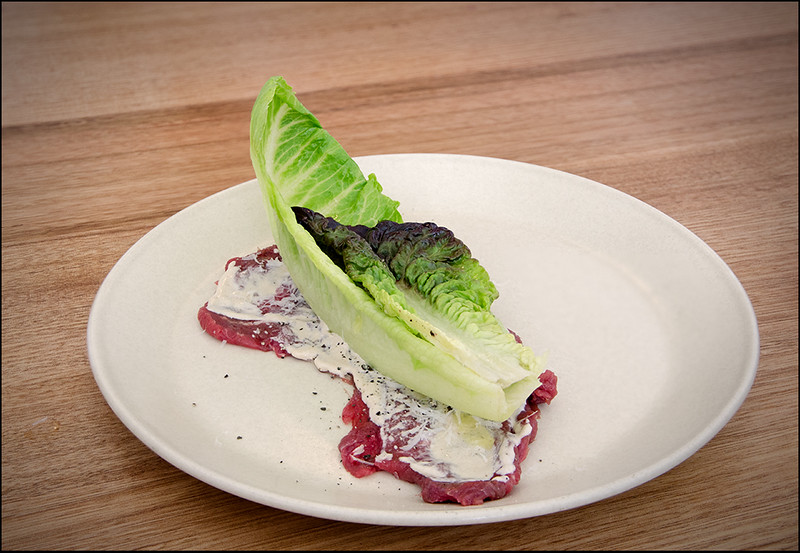 Beef carpaccio, anchovy