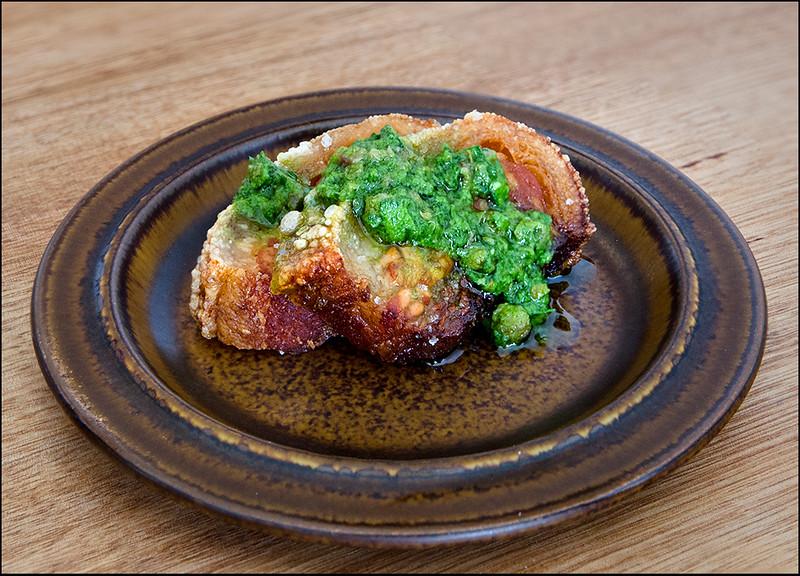 Pork, green sauce