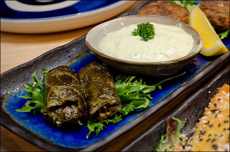 Urban Greek Hobart - Dolmades and Dill Yoghurt