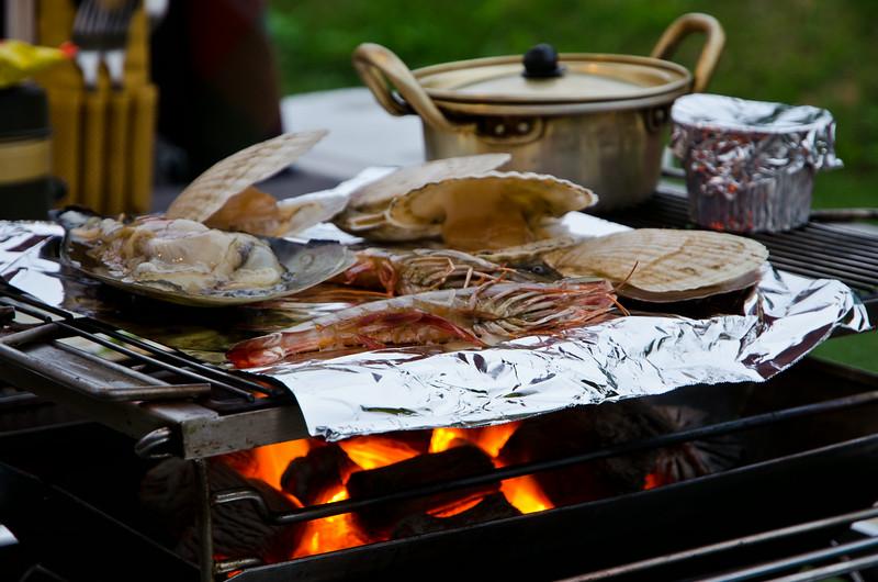 BBQ seafood at Hotel November