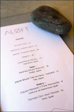 Aloft menu